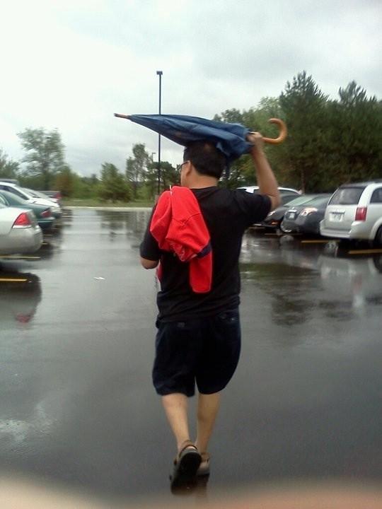 Cómo no usar el paraguas