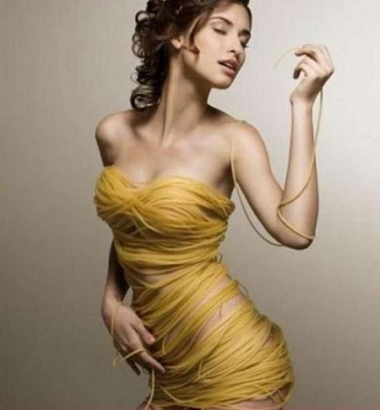 Vestido de spaguettis