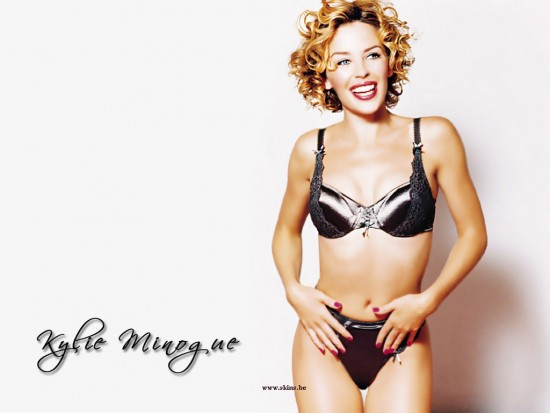 Kylie Minogue en ropa interior