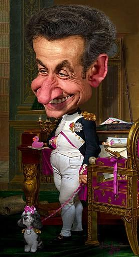 Caricatura Napoleón Sarkozy