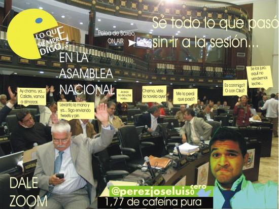 Lo que siempre digo en la Asamblea Nacional