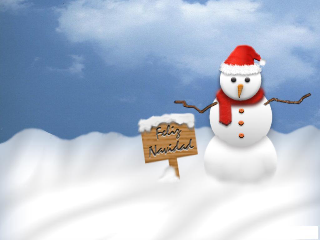Postales navidad for Figuras de nieve navidenas