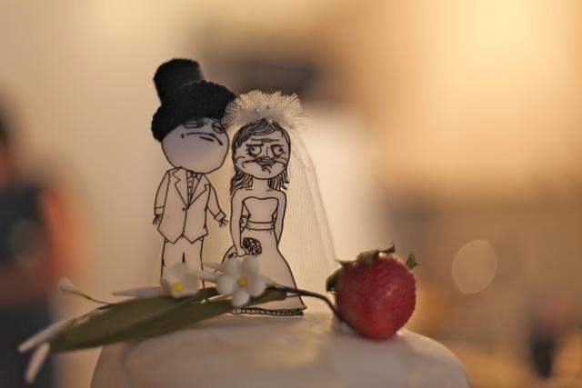 Figuras de boda para novios frikis