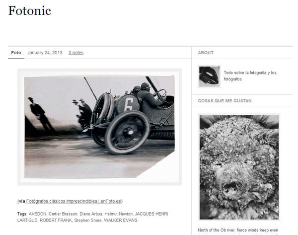 Tumblr de fotografía y los fotógrafos